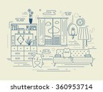 linear illustration in flat... | Shutterstock .eps vector #360953714