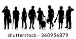 vector silhouettes of different ... | Shutterstock .eps vector #360956879