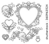 vector set love valentines day... | Shutterstock .eps vector #360963524