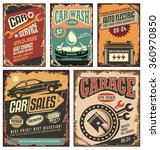 cars ads and banners retro 20th ... | Shutterstock .eps vector #360970850