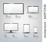 tv screen  lcd monitor and... | Shutterstock .eps vector #360972530