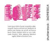 love design over background... | Shutterstock .eps vector #360985814