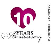 10 years anniversary white... | Shutterstock .eps vector #360989510