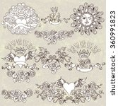 vector set of vintage stylized...   Shutterstock .eps vector #360991823