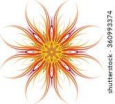 orange bright ornament.vector... | Shutterstock .eps vector #360993374