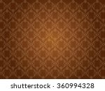 Retro Background Floral Brown...