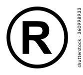 registered trademark icon.... | Shutterstock .eps vector #360998933