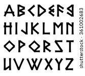 vector egyptian font as... | Shutterstock .eps vector #361002683