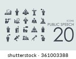 set of public speech icons | Shutterstock .eps vector #361003388