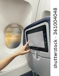 aircraft monitor the passenger... | Shutterstock . vector #361004048