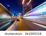 blurred urban look of the car... | Shutterstock . vector #361005218