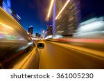 blurred urban look of the car... | Shutterstock . vector #361005230