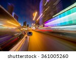 blurred urban look of the car... | Shutterstock . vector #361005260