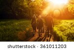 group of friends walking with... | Shutterstock . vector #361011203