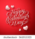 beautiful happy valentines day... | Shutterstock .eps vector #361011323