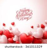 happy valentines day background ... | Shutterstock .eps vector #361011329