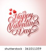 beautiful happy valentines day... | Shutterstock .eps vector #361011359