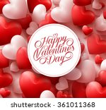 3d realistic red hearts... | Shutterstock .eps vector #361011368