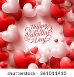 3d realistic red hearts... | Shutterstock .eps vector #361011410