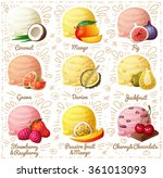 set of cartoon vector icons... | Shutterstock .eps vector #361013093