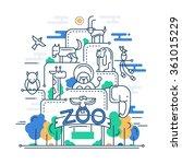 illustration of modern line... | Shutterstock . vector #361015229