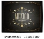 vintage touristic greeting card ... | Shutterstock .eps vector #361016189