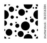 seamless dots background pattern | Shutterstock .eps vector #361016384