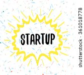 startup logo that attracts... | Shutterstock .eps vector #361018778