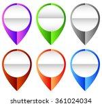 map marker  map pin set.... | Shutterstock .eps vector #361024034
