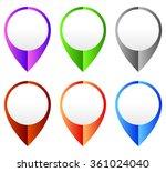 map marker  map pin set.... | Shutterstock .eps vector #361024040