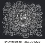 coffee and tea set of vector... | Shutterstock .eps vector #361024229