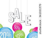 sticker banner with text sale.... | Shutterstock .eps vector #361031570
