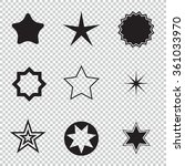 star icons. star pictogram. set ... | Shutterstock .eps vector #361033970