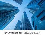 tall dubai marina skyscrapers... | Shutterstock . vector #361034114