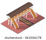 vector isometric railway... | Shutterstock .eps vector #361036178
