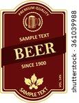 beer label design | Shutterstock .eps vector #361039988