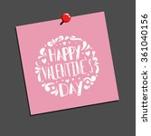 happy valentines day card.... | Shutterstock .eps vector #361040156