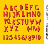 abc latin letters and numbers... | Shutterstock .eps vector #361046249