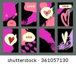 set of hand drawn cards. made...   Shutterstock .eps vector #361057130