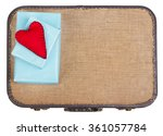 handmade felt hearts with black ... | Shutterstock . vector #361057784