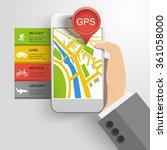 gps location infographics... | Shutterstock .eps vector #361058000