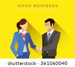 bright flat concept of business ... | Shutterstock .eps vector #361060040