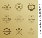 valentine's day labels  badges  ... | Shutterstock .eps vector #361060613