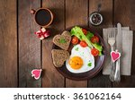 breakfast on valentine's day  ... | Shutterstock . vector #361062164