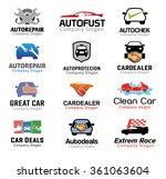 car deal  and and logo repair... | Shutterstock .eps vector #361063604