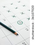 close up of a simple calendar... | Shutterstock . vector #36107020