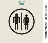 male and female restroom symbol ... | Shutterstock .eps vector #361070804