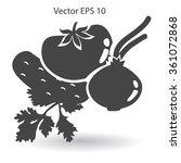 flat vegetables icon | Shutterstock .eps vector #361072868