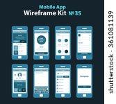 mobile wireframe app ui kit 35. ...
