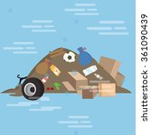 garbage pile waste product... | Shutterstock .eps vector #361090439